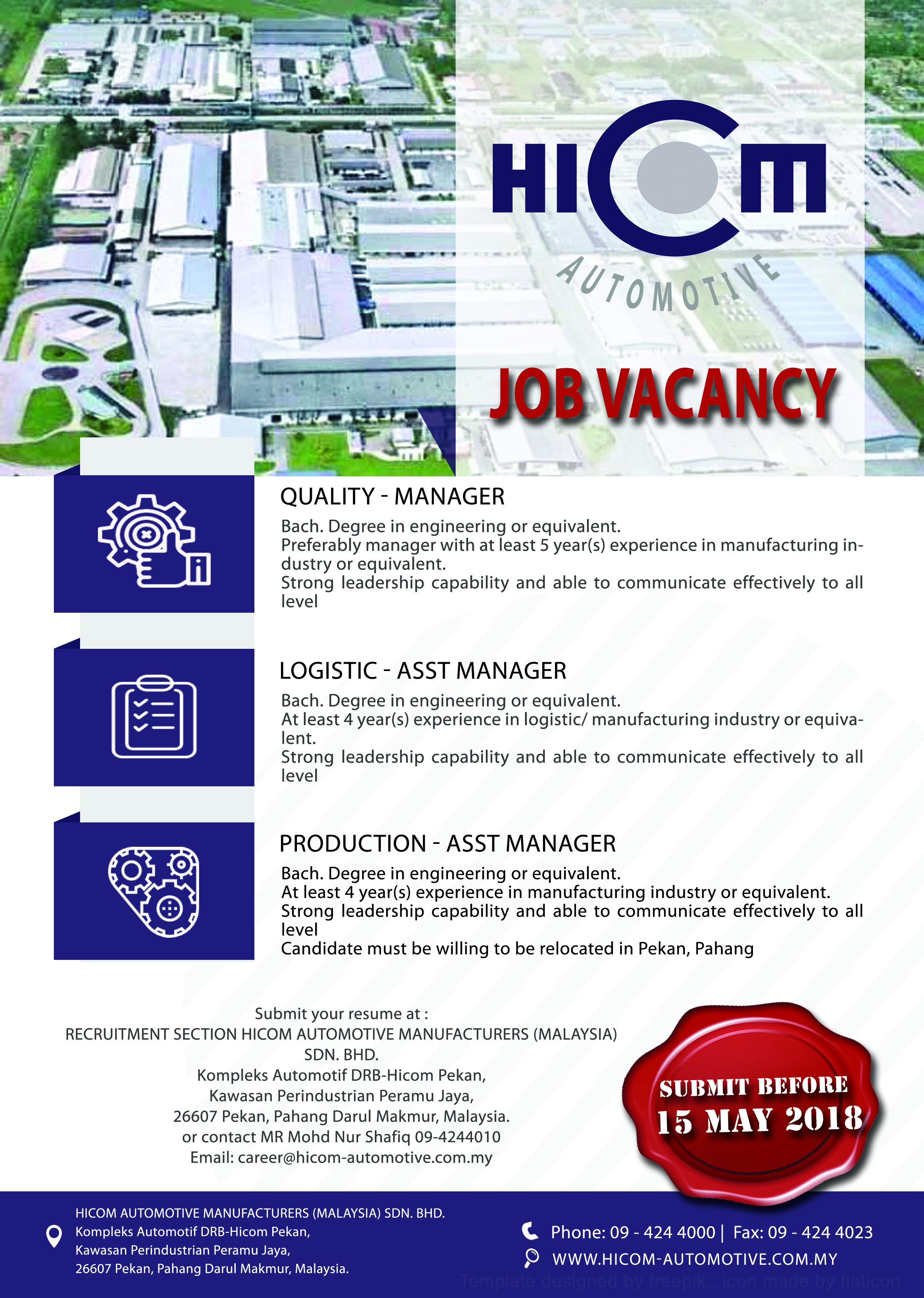 HICOM Automotive Manufacturers (Malaysia) Sdn  Bhd